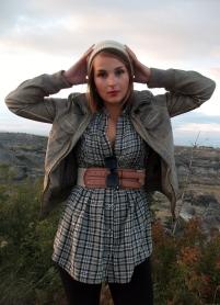 slouchy beanie, plaid, leather, raybans