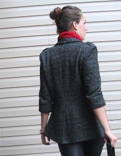 blazer and leather leggings