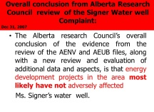 11 over all conclusion from ACR report signer