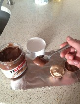 12 -use a teaspoon of nutella to bind the two halves