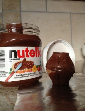 17- nutella filled chocolate nut egg