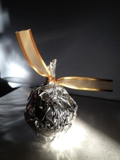 18 - wrap in tin foil, knot with ribbon