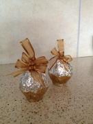 22- DIY chocolate nutella nut egg ornaments