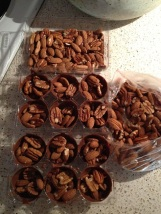 6 - fill chocolates with mixed nuts