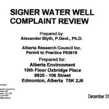 9 neighbouring well complaint ARC review