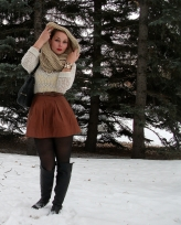 leather skirt infinity scarf