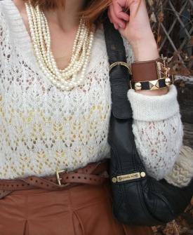 michael kors bag studded bracelts