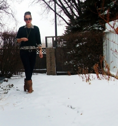 leopard and chunky knit