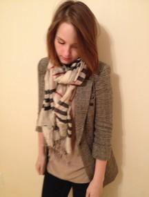 Burberry Brit Inspo- scarf and blazer
