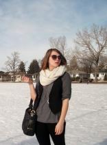 oversized sunglassed, oversized infinity scarf