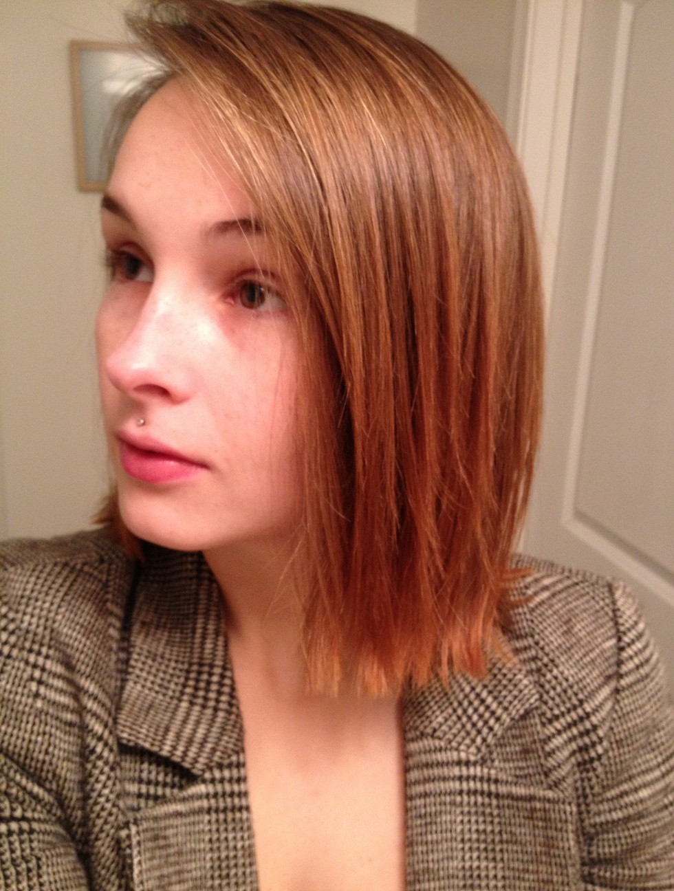 Natural Hair Lightening Progress