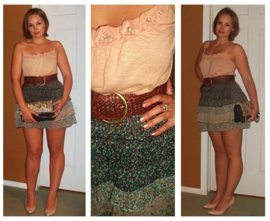 western wear, blush and floral