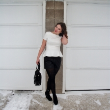 Peplum and leather and at home ombre waves