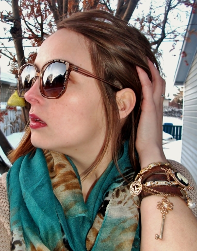 sunglasses and pashmina - le chateau