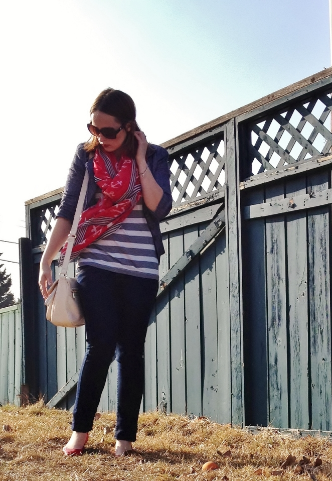 Simple Spring Style - Nautical Stripes and denim