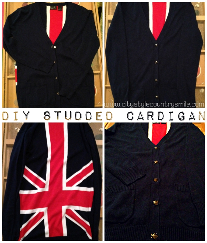 Union Jack Studded Sweater DIY