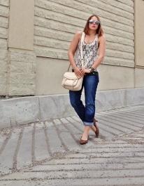 casual summer style - floral, leopard, lace, boyfriend jeans