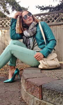 metallics and shades of blue for spring