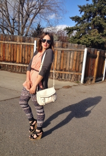 spring style aviators, tribal print and wedge sandals