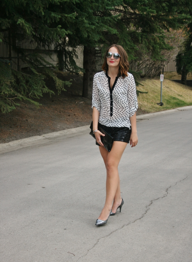 sequin shorts summer style