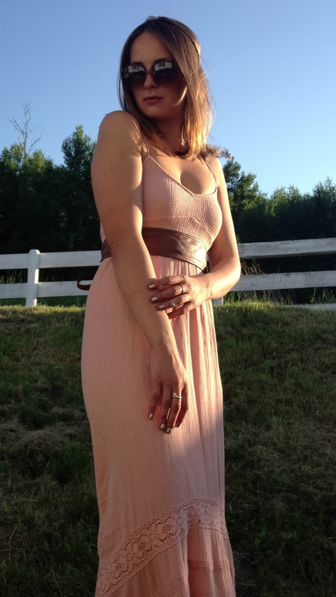 billabong blush maxi dress